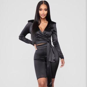 Fashion Nova Satin Short Set